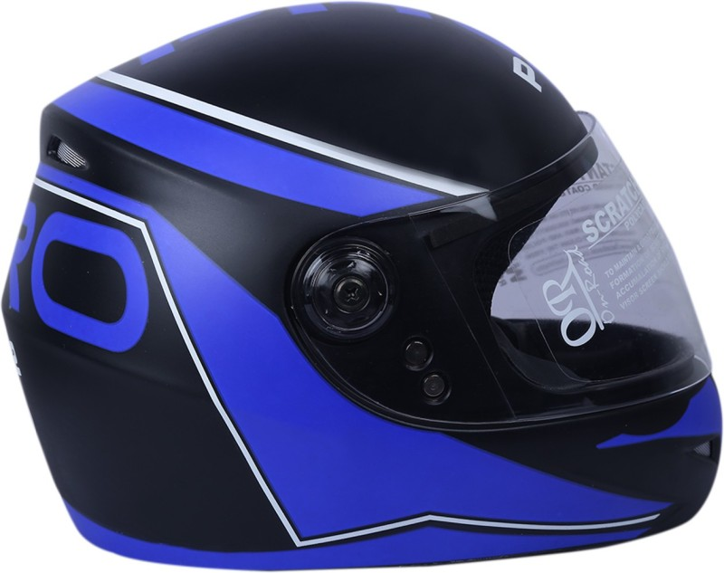 AutoVHPR O2 Black With Blue Dashing Stylish and Trending Designer ISI Certified Full Face Helmet Motorbike Helmet(Blue, Black)