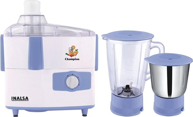 Inalsa Champion 450 Juicer Mixer Grinder(White, Light Blue, 2 Jars)