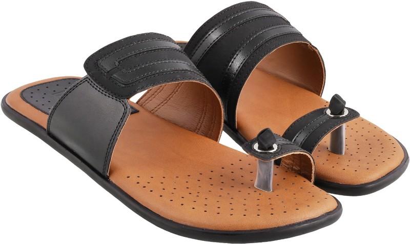 Mochi Men Black Sandals- Buy Online in