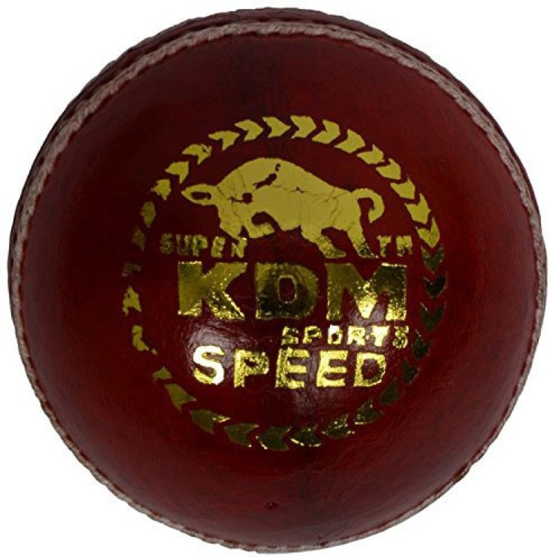 KDM Sports Speed Cricket Leather Ball(Pack of 3, Maroon)