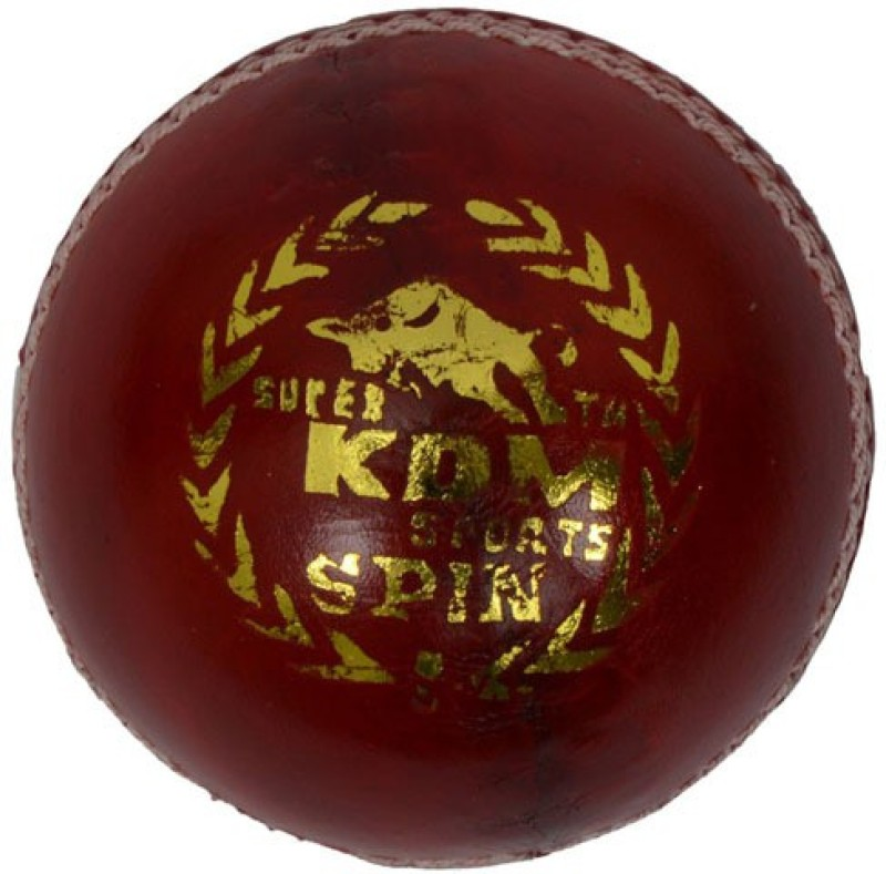 KDM Sports Spin Cricket Leather Ball(Pack of 1, Maroon)