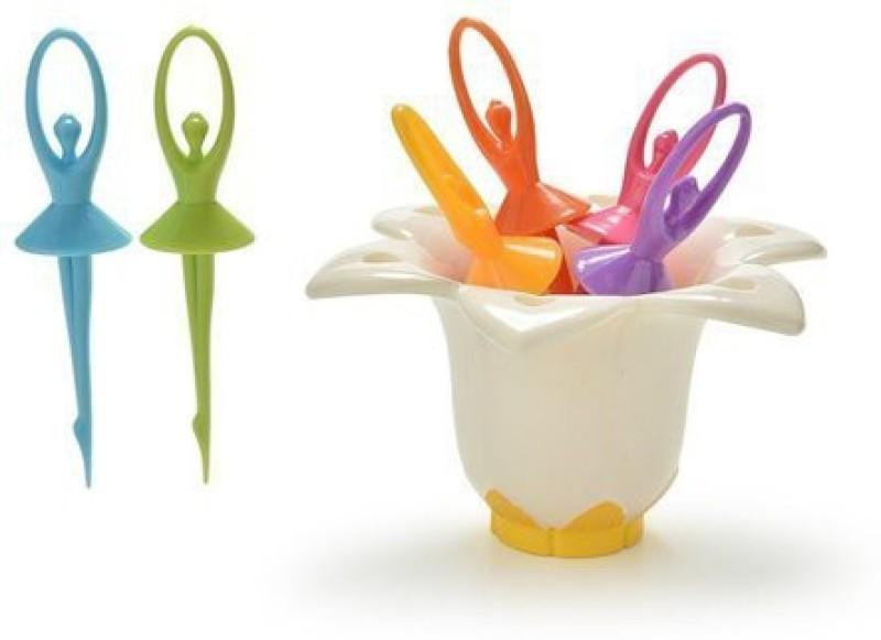 Bluzon Fruit Fork - Dancing Doll ABS Plastic Fruit Fork(Pack of 1)