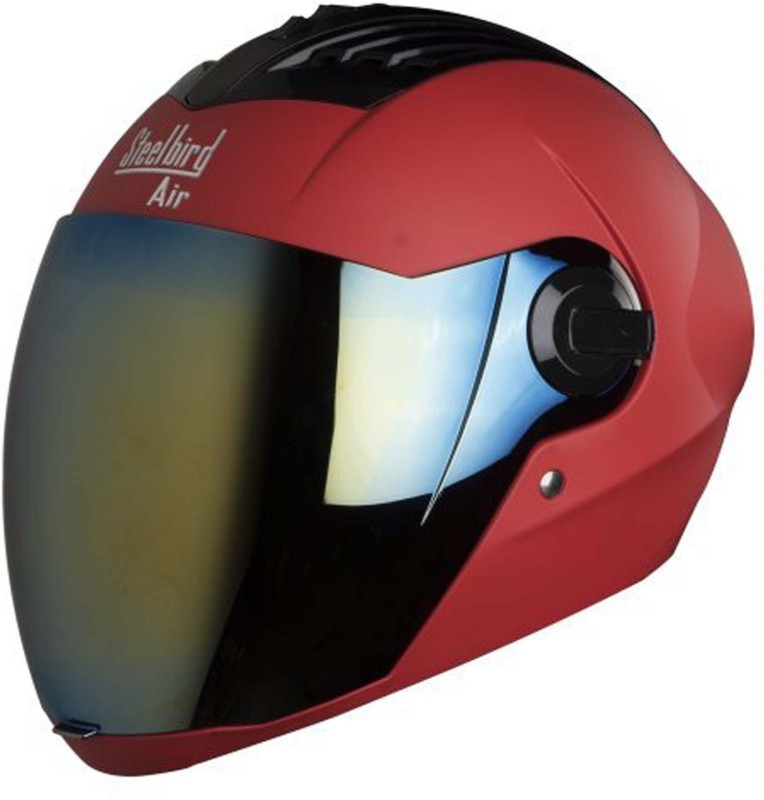 Steelbird AIR SBA-2-Matt Motorbike Helmet(Sports Red)