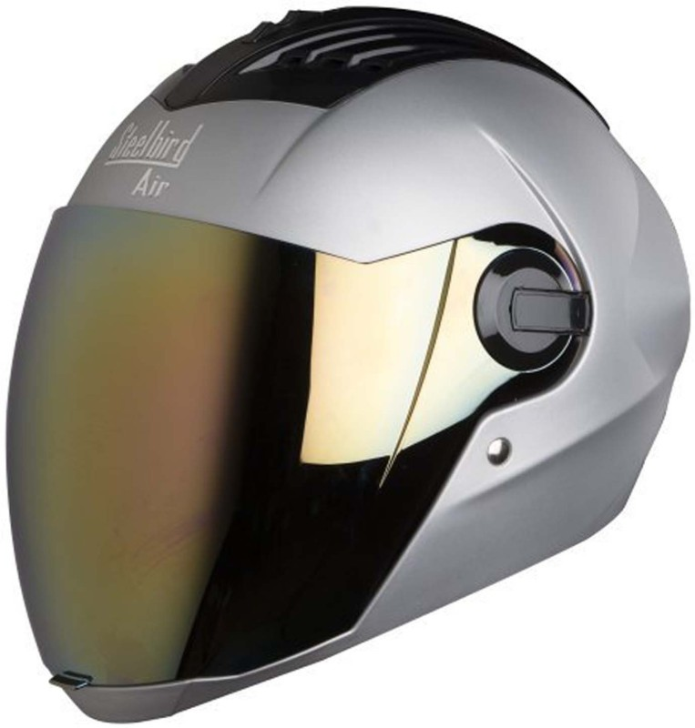 Steelbird AIR SBA-2-Matt Motorbike Helmet(Silver)
