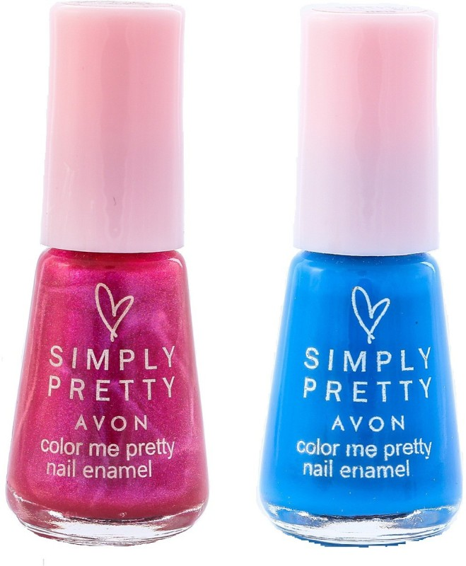 Avon SP Nail Enamel Restage Flirty - Navy Blue(Pack of 2)