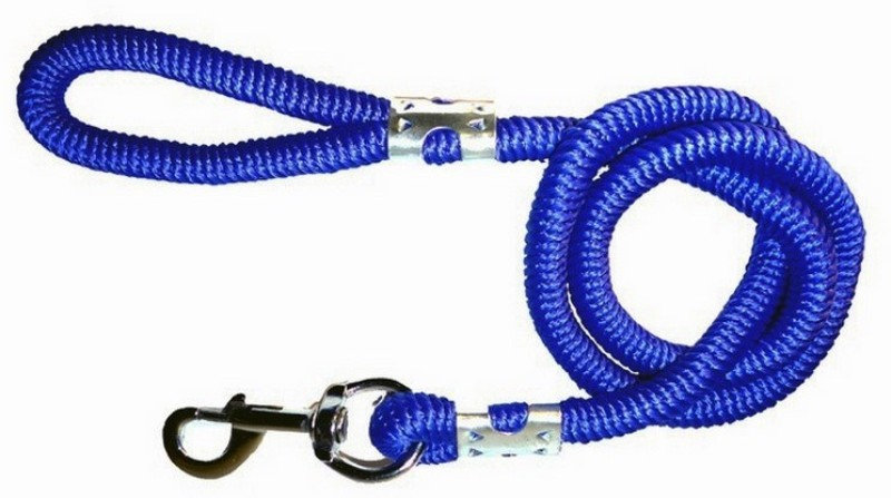 Pet Club51 Soft Rope 162 cm Dog Martingale Leash(Blue)