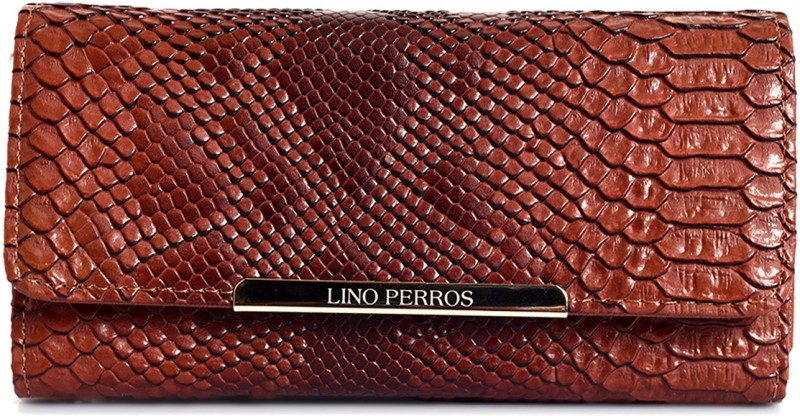 Lino Perros Women Brown Artificial Leather Wallet(6 Card Slots)
