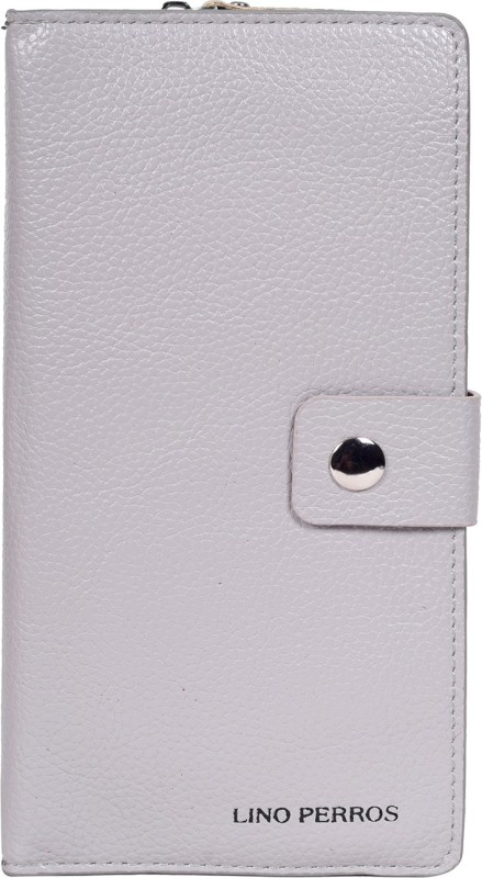 Lino Perros Women Grey Artificial Leather Wallet(4 Card Slots)