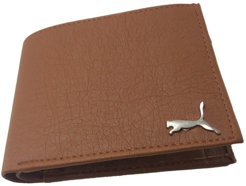 Puma Men Casual Tan Artificial Leather Wallet(3 Card Slots)