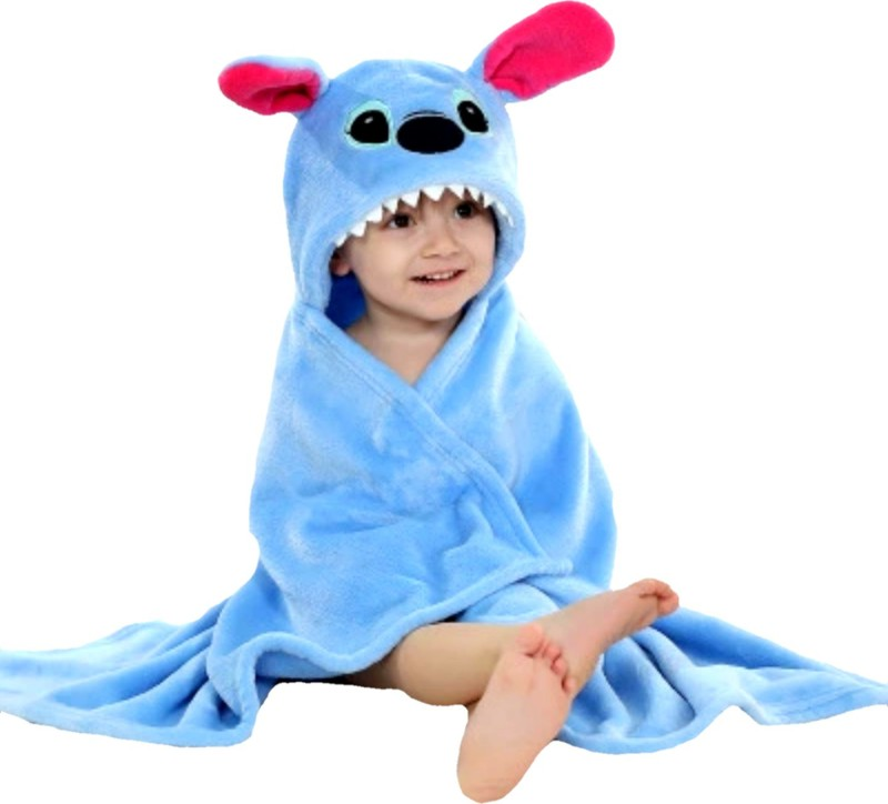 BRANDONN Light Blue Free Size Bath Robe(Bath Robe, For: Baby Boys & Baby Girls, Light Blue)