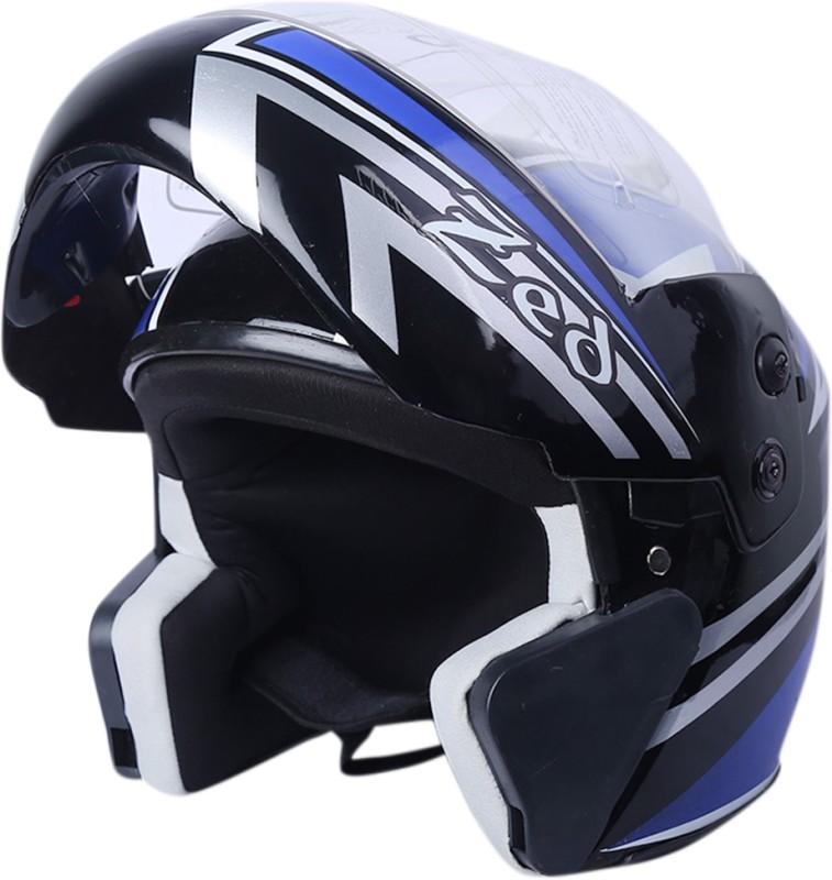 AutoVHPR Presents O2 Zed Flip Up Designer ISI Certified Dashing and Stylish Helmet Motorbike Helmet(Blue)