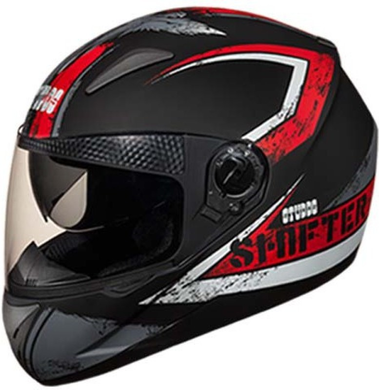 Studds Shifter D1 Matt Red N2 Motorbike Helmet(Black)