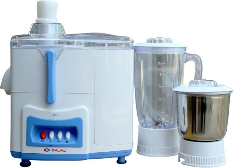 Bajaj JX 7 500 Juicer Mixer Grinder(White & Blue, 2 Jars)