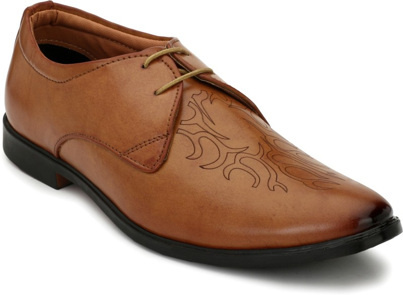 Eego Italy Stylish Lace Up For Men(Tan)