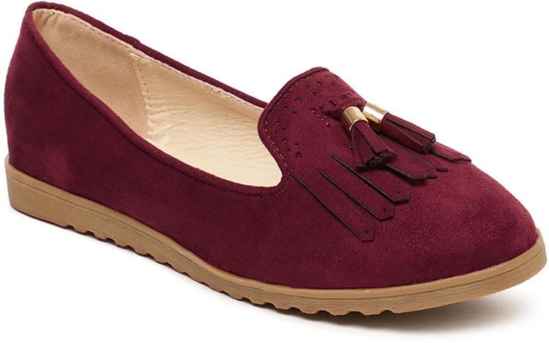 Addons Loafers For Women(Maroon)