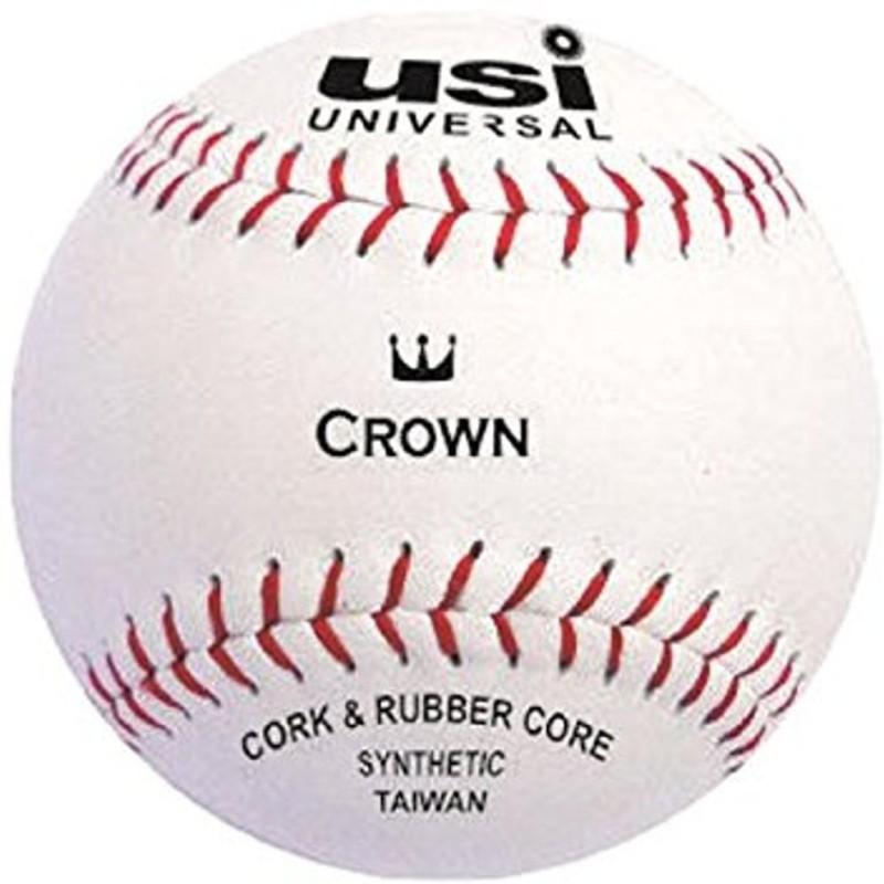 USI Synthetic Crown Baseball Baseball(Pack of 2, White)