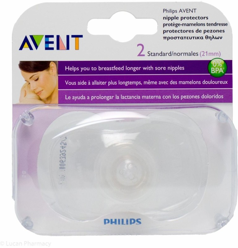 Philips Avent BPA Free Standard Nipple Protector (21mm) Breast Nipple Shield(Reusable)