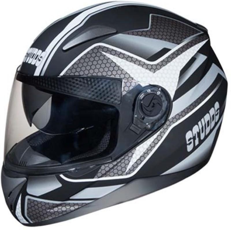 Studds Shifter D8 Matt Grey N4 Motorbike Helmet(Black)