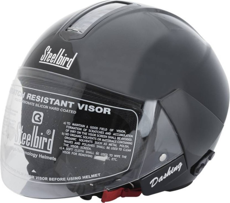 Steelbird SB-35 Cruze Natural Motorbike Helmet(Black Without Peak)