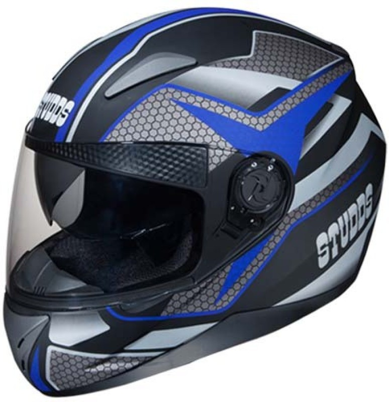 Studds Shifter D8 Matt Blue N1 Motorbike Helmet(Black, Multicolor)