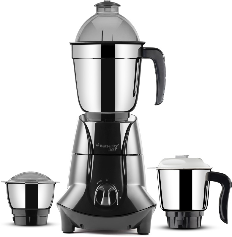 Butterfly Jet Elite 3 Jar 750 watts 750 Mixer Grinder(Grey, 3 Jars)