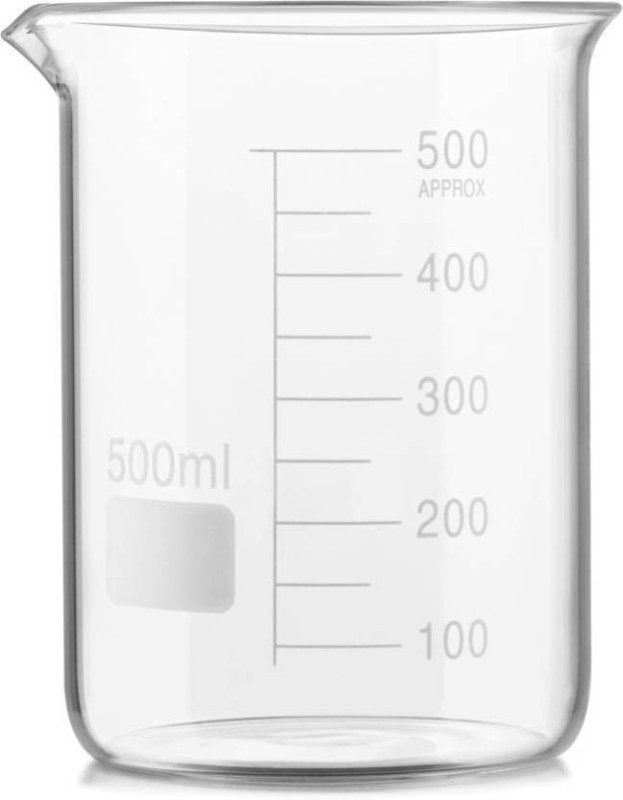 El-con 500 ml Low Form Beaker(Pack of 1)