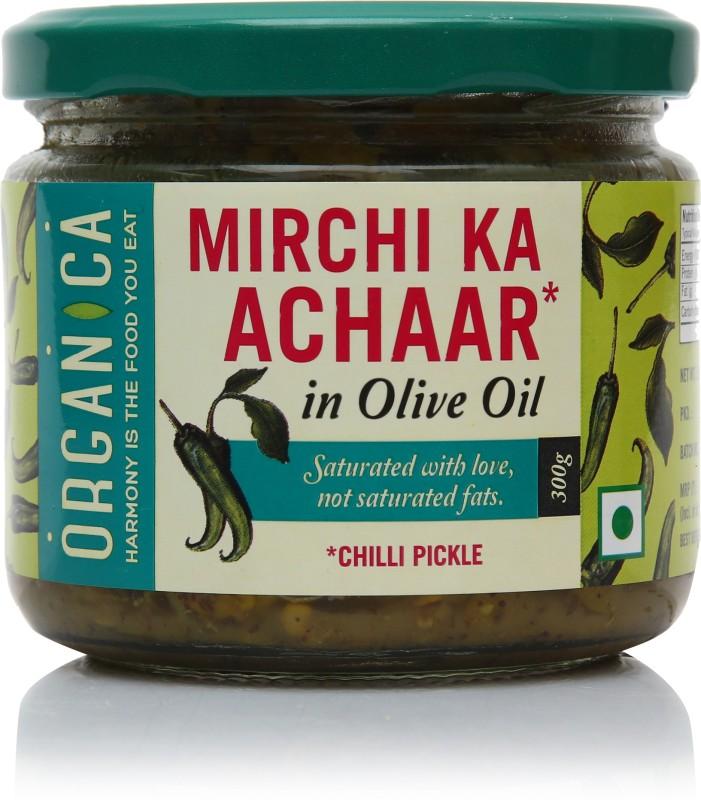 Organica Mirchi Ka Aachar Green Chilli Pickle(300 g)