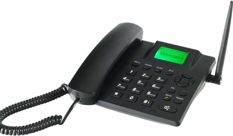 microtel DUAL SIM 6188D GSM FWP LANDLINE PHONE Corded Landline Phone(Black)