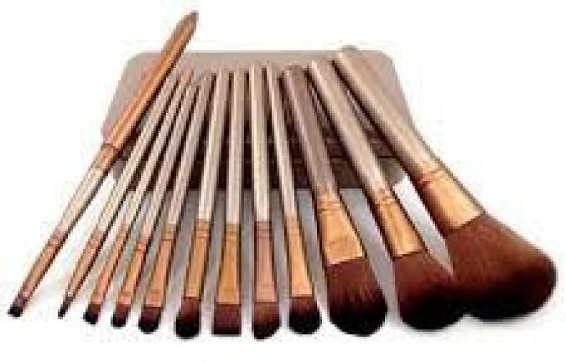 jollity Makeup Brush Organizer(Gold)