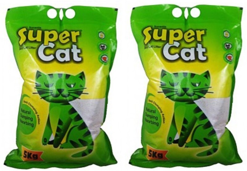 Super Dog Super Cat Litter (5kg, Pack of 2) Pet Litter Tray Refill