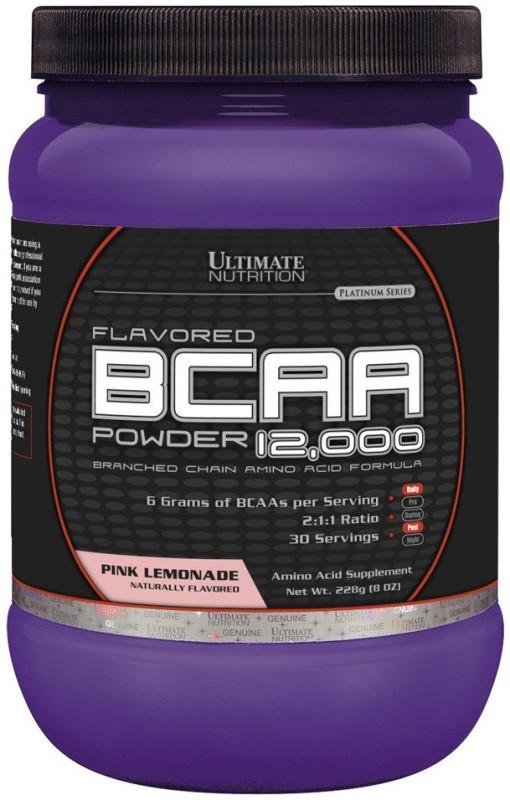 Ultimate Nutrition Flavored BCAA Powder 12,000 228 g, 30 Servings, Pink Lemonade BCAA(228 g, Pink Lemonade)