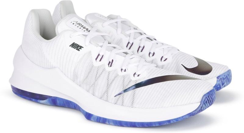Nike AIR MAX INFURIATE II PRM Basketball Shoes For Men(White, Blue)
