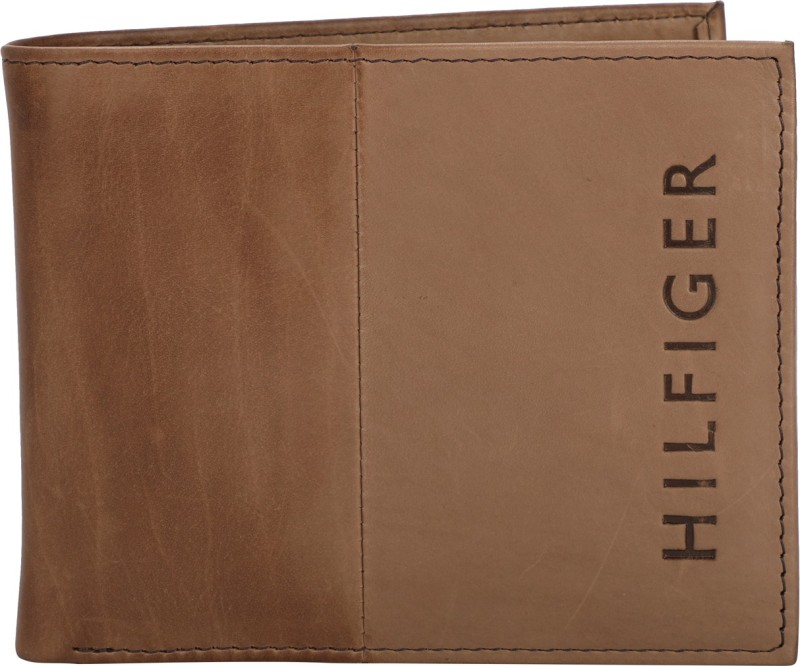 Tommy Hilfiger Men Orange Artificial Leather Wallet(10 Card Slots)