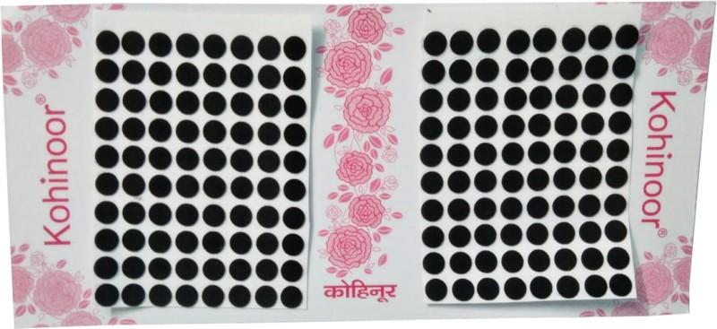 Kohinoor Plain Black Bindi For Women All Skin Type Black Bindis(Stick on)