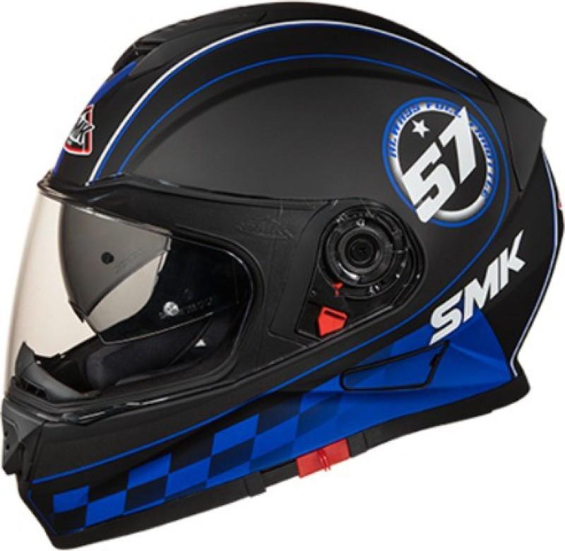 SMK TWISTER MA 256 BLADE GRAFIC Motorbike Helmet(Black)