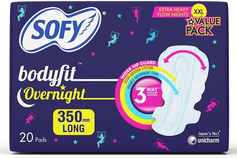 Sofy Anti Bacteria Overnight - XXL (20 Pieces) Sanitary Pad(Pack of 20)