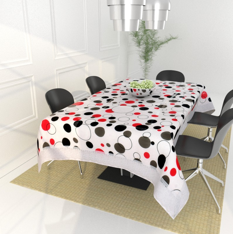 A R Abstract 4 Seater Table Cover(Multicolor, PVC)