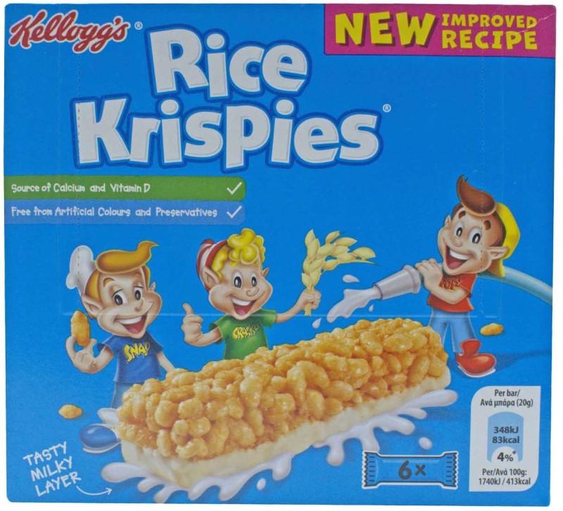 Kellogg's Rice Krispies, 6pc - 120g (6x20g)(120 g, Box)