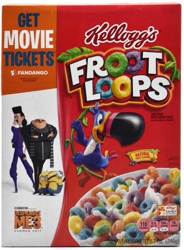 Kellogg's Froot Loops Sweetened Multi-Grain Cereal - 246g (8.7oz)(246 g, Box)