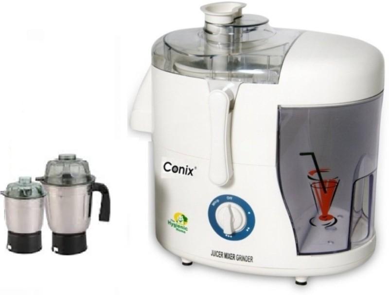 conix Deo 2 Star S.S 550 Juicer Mixer Grinder(White, 2 Jars)