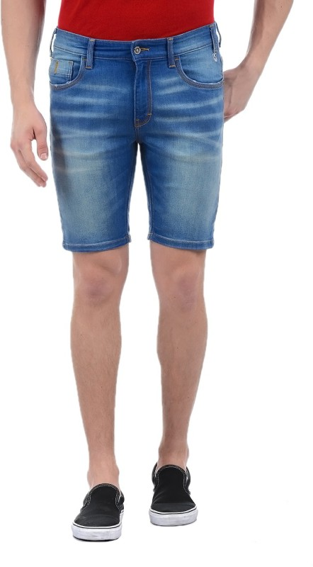 Izod Washed Mens Blue Basic Shorts