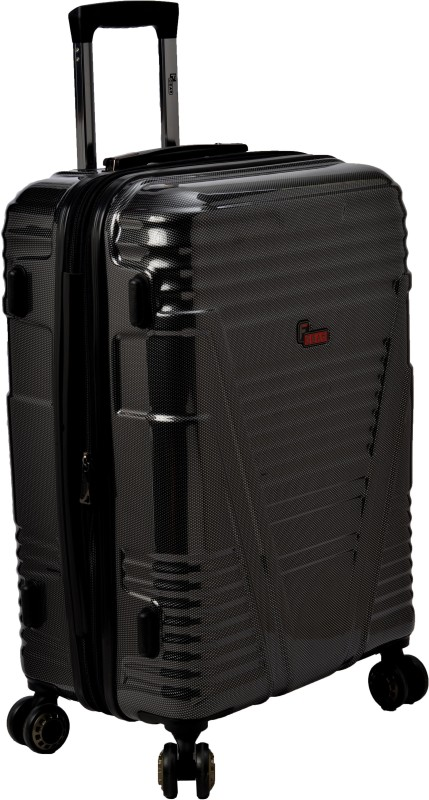 F Gear Valkyrie Polycarbonate Expandable Check-in Luggage - 28 inch(Black)