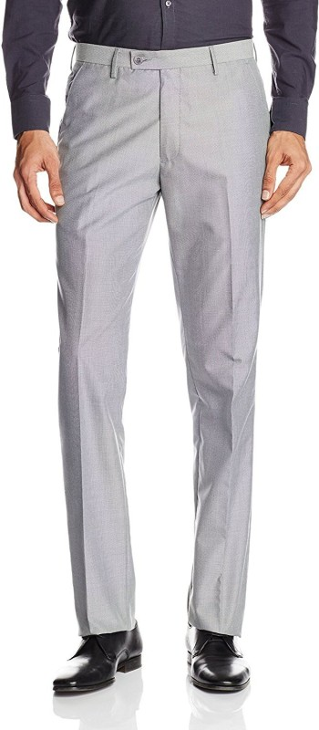 John Miller Slim Fit Men Grey Trousers