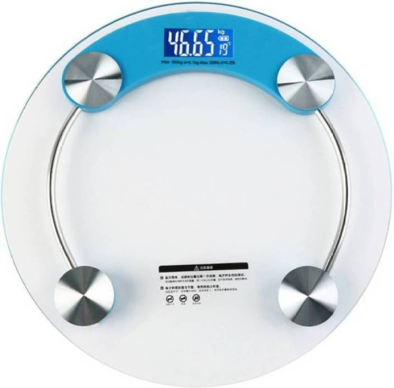 Zolico 2003 A1Q Digital Personal Bathroom Weighing Scale Machine(White,Blue & Pink) 180 KG With Backlit LCD Display Weighing Scale Weighing Scale(Blue, Transparent, White, Pink)