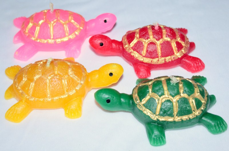 Pupe Handmade Floating Turtle-shaped Candle Candle(Yellow, Green, Pink, Red, Pack of 4)