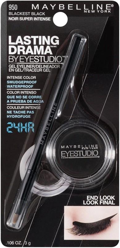 Maybelline New Lasting Drama Gel Eye Liner (950 Blackest Black) 3 g(No. 950 Blackest Black)