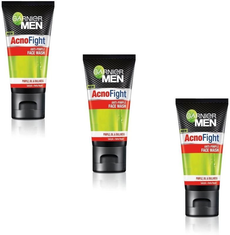 Garnier Men Acno Fight Anti Pimple (Pack of 3) Face Wash(50 g)