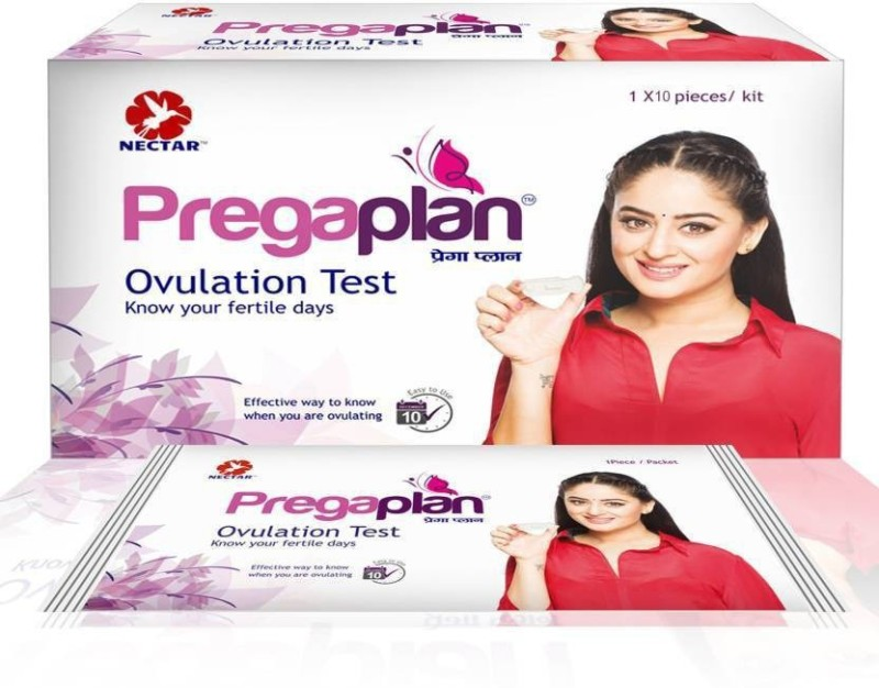 Neclife Pregaplan Ovulation Fertility Test (10) & Getnews Pregnancy Test Kit (10) & Dr Trust Digital thermometer (1) Ovulation Kit(10 Tests)
