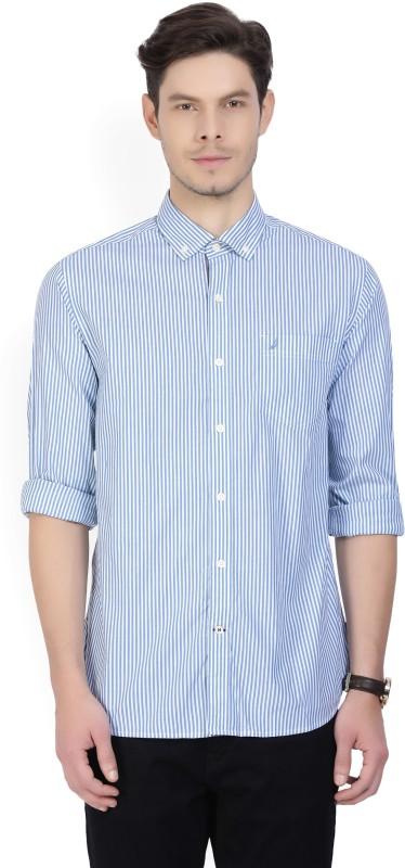 Nautica Men's Striped Casual Blue Shirt