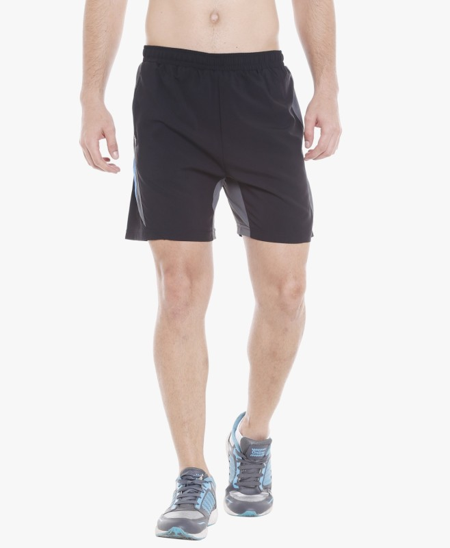 Champion byFBB Self Design Men Black Sports Shorts